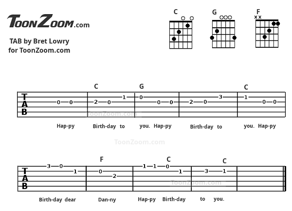 Happy birthday guitar tab icon